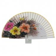 Fan design in legno di ghiaccio dipinto fiori