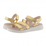 Sandali in pelle metallizzata oro C-6504 Wonders