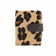 Portacarte in pelle leopardata