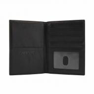 Portafoglio passaporto grande in pelle nera