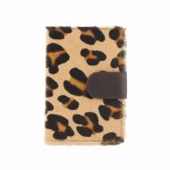 Portafoglio, portafogli e porta carte della pelle di leopardo