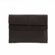 Portafoglio a portafoglio in pelle liscia