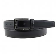Cintura in pelle liscia nera Miguel Bellido